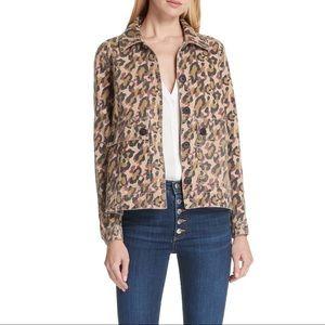 Veronica Beard Mercer Leopard Print Jacket